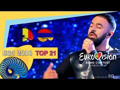 Eurovision 2018 - My Top 21 So Far [New: ARMENIA, ROMANIA]