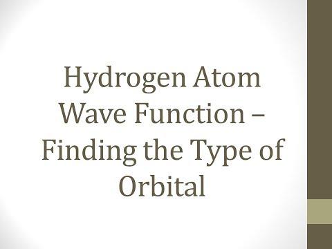 Hydrogen Atom Wave Function - Find the type of Orbitals