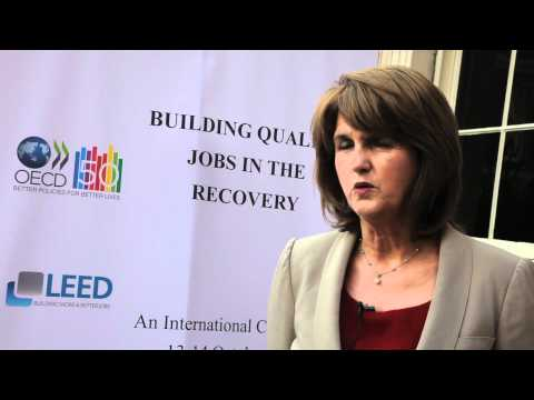 Minister Joan Burton TD on youth unemployment at OECD Dublin