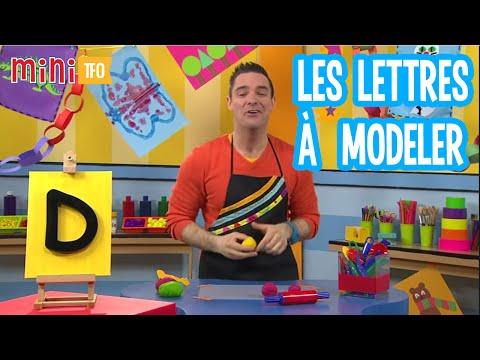 Les lettres à modeler: D