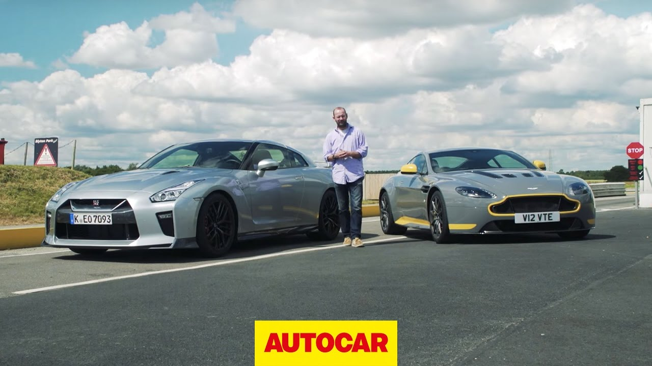 Which Is Fastest Nissan Gt R Takes On Aston Martin V12 Vantage S