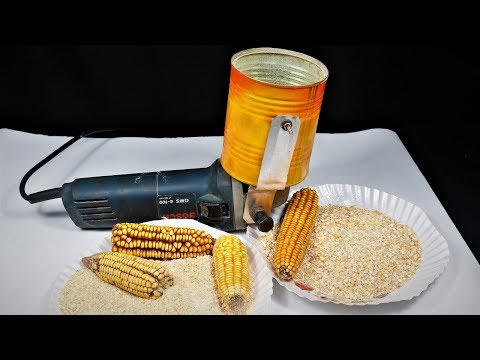 Angle Grinder Hack. How to Make a corn Grinder/mixture at Home |DIY