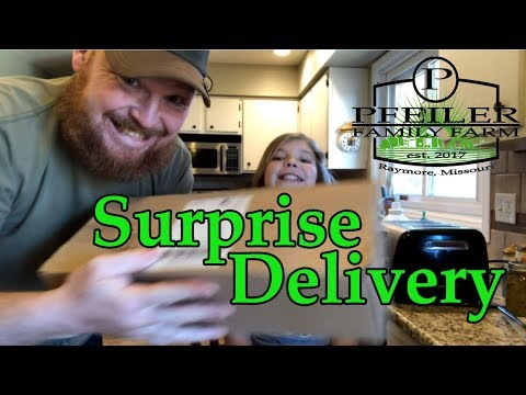 Special Delivery!!  This box will replace the grocery store!!
