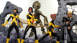 MARVEL LEGENDS X-MEN NEW MUTANTS DANI MOONSTAR WOLFSBANE KARMA (WALGREENS EX) ACTION FIGURE REVIEW