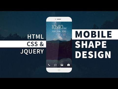 Mobile UI Design | Html CSS And JQuery