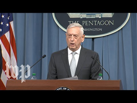 Pentagon holds a briefing on Syria military strike