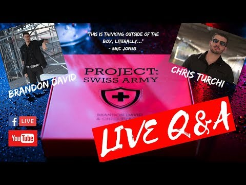 PROJECT: SWISS ARMY Q&A with Brandon David & Chris Turchi