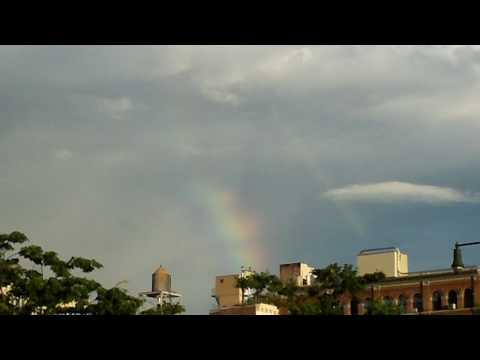 Arco Iris-Rainbow-Arc-en-Ciel above Manhattan Sun 6/28/09 Along West Side Highway...