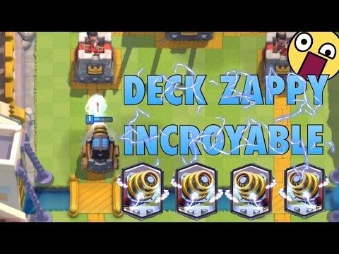 Deck zappy incroyable clash royale youtube for Clash royale deck arc x