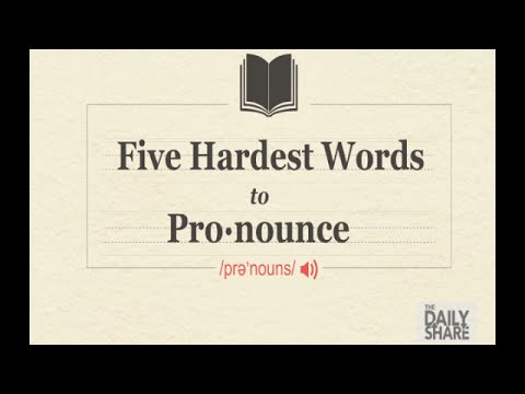 Watch people try to pronounce the 5 hardest words - YouTube
