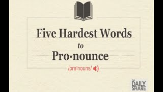 Watch people try to pronounce the 5 hardest words