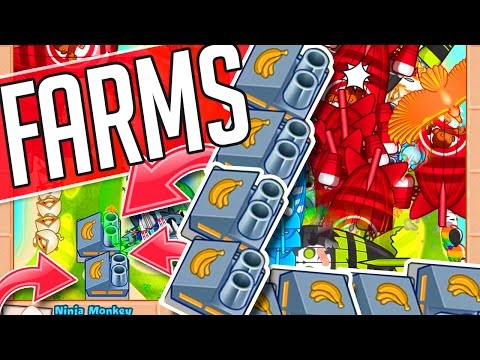 Bloons TD Battles ::  I USE FARMS!  ::  LATE GAME WITH FANS