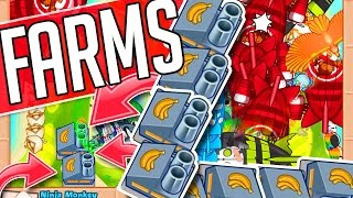 Bloons TD Battles ::  I USE FARMS!  ::  LATE GAME WITH FANS :: WITH FANS
