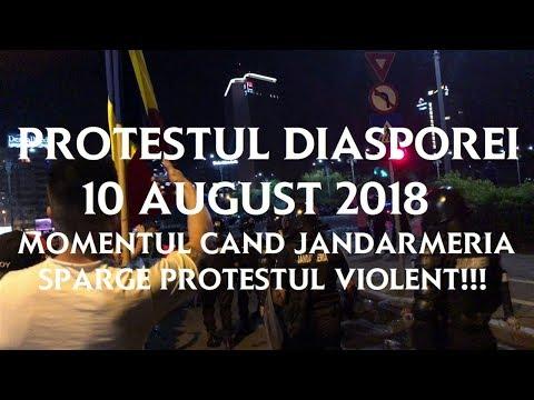PROTESTUL DIASPOREI 10 AUGUST 2018 MOMENTUL CAND SE INTRA IN FORTA