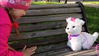 HASBRO FurReal Friends Gogo интерактивный плюшевый щенок для детей.GOGO puppy for kids.