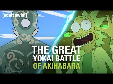 The Great Yokai Battle of Akihabara   Rick and Morty   adult swim
