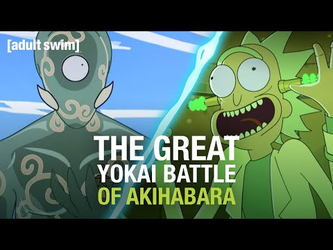 The Great Yokai Battle of Akihabara | Rick and Morty | adult swim