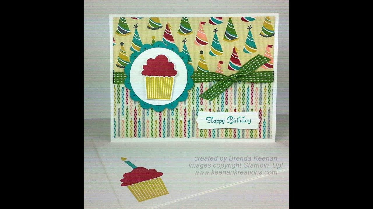 Stampin' Up! Birthday Cupcake Card