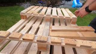 rustic wooden crates for fruit and storage, from pallets