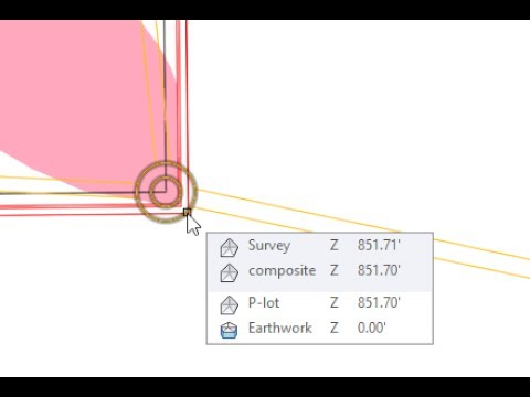 Use Shift and Space Bar to quickly select overlapping entities in Civil 3D