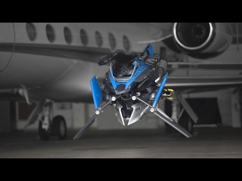 Wow!!! BMW built a full size flying motorcycle that's based on a Lego kit