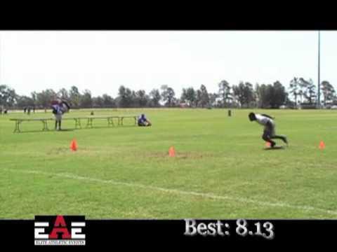 EAE Football Combine - D Thomas - RB - Adrian Peterson Combine 6-24-11