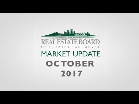October 2017 Housing Market Update - Real Estate Board of Greater Vancouver