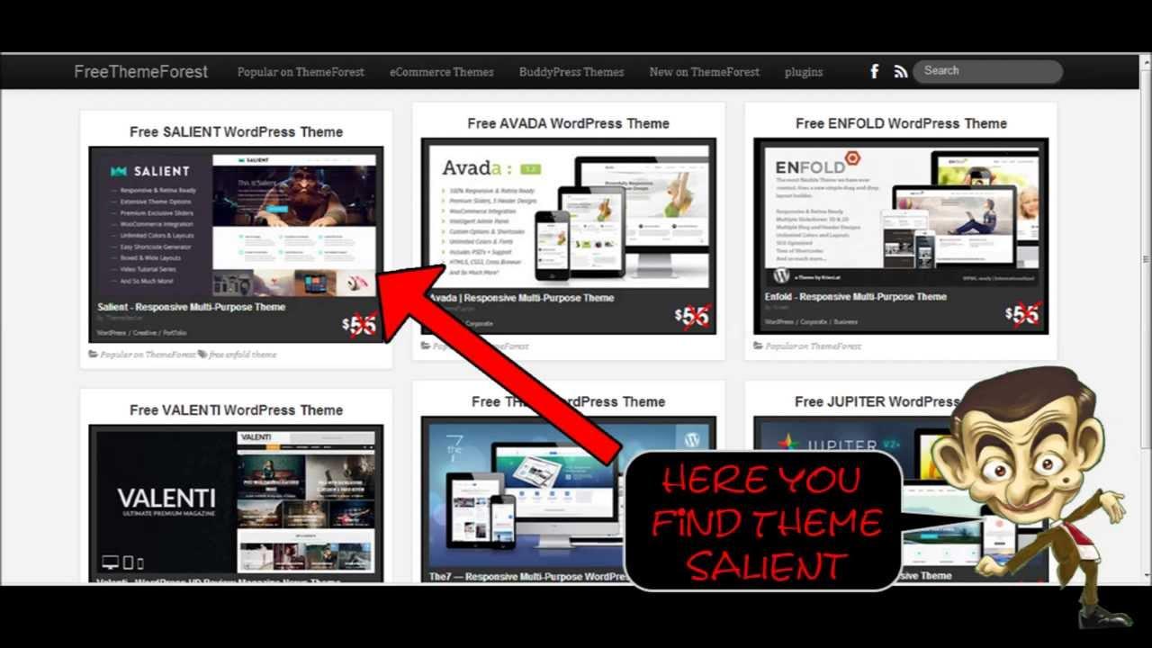 Free SALIENT Wordpress Theme - YouTube