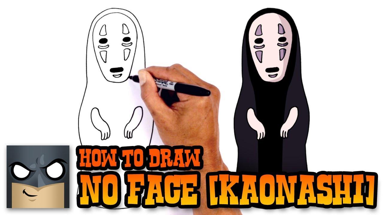 How To Draw No Face Kaonashi Spirited Away Youtube