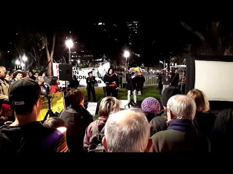 Evacuate Now!  Sydney Vigil 19 July 2017