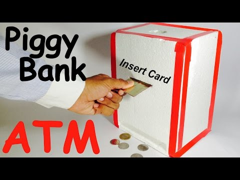 How to Make Piggy Bank ATM Machine at Home | DIY Craft for Kids