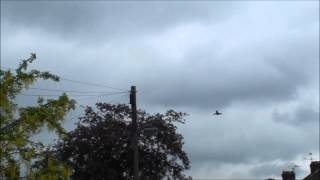 Typhoon Euro Fighter take off and landing Ruislip Middlesex RAF Northolt