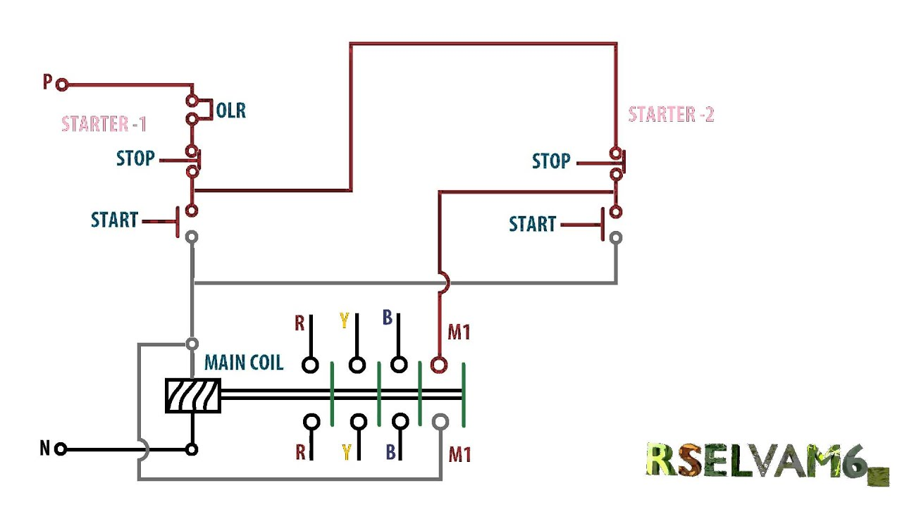 maxresdefault 3 phase motor one motor 2on 2off switch control,single phase motor Single-Phase Motor Reversing Diagram at bayanpartner.co