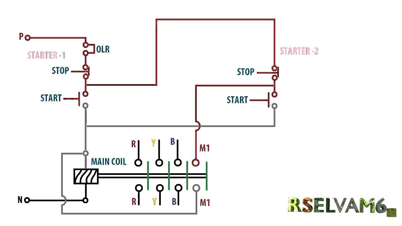 Wiring Diagram Dol Motor Starter Single Phase