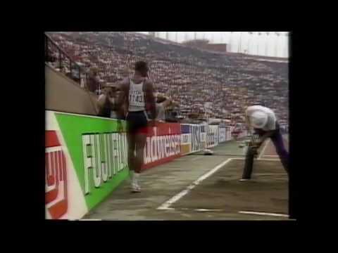 3527 World Track & Field 1991 Long Jump Qualifying Carl Lewis