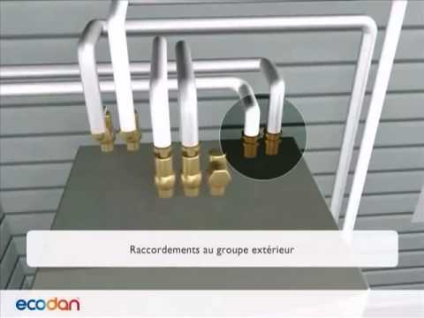 pompe chaleur air eau mitsubishi ecodan youtube. Black Bedroom Furniture Sets. Home Design Ideas