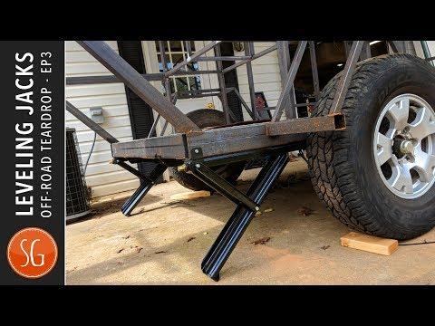 Leveling Jacks And MORE! | Off Road Teardrop Camper Trailer Build 3
