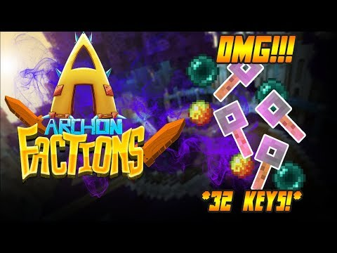 DUPE GLITCH MAKES SERVER ROLLBACK + OPENING 32 KEYS! | TheArchon #1 (Minecraft Factions)