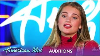 Riley Thompson: A STUNNING Audition Wows The Judges | American Idol 2019