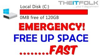 Free Up C: Hard Drive Space FAST! Windows 7, 8, 10.