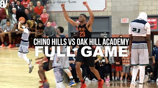 chino hills vs oak hill academy full game   oak hill snaps chino hills 60 game win streak