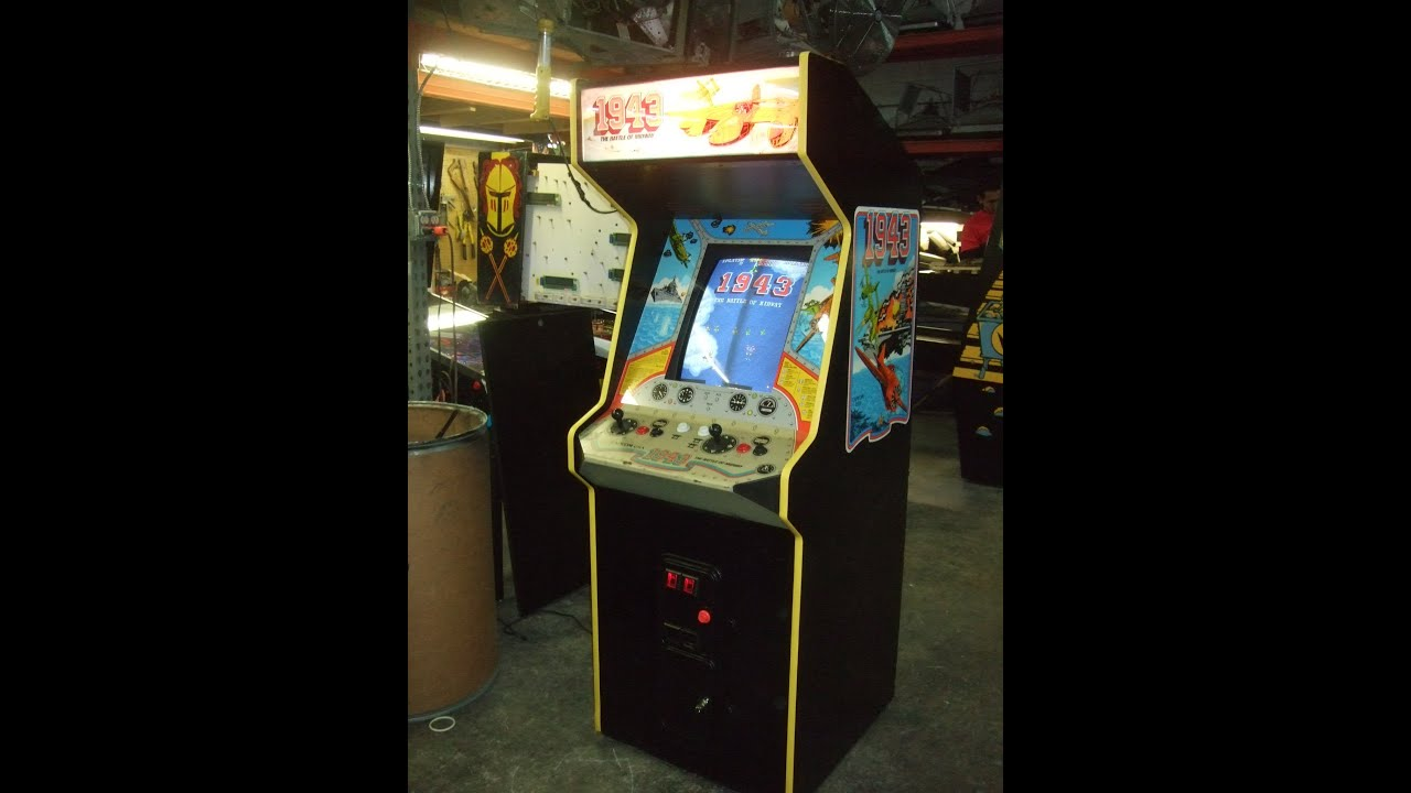 395 Capcom 1943 Arcade Video Game In Dedicated Cabinet