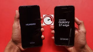 Samsung Galaxy S7 Edge vs Huawei Y7 Prime 2018 - Speed test - in full HD