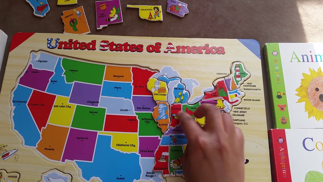 The United States of America map puzzle