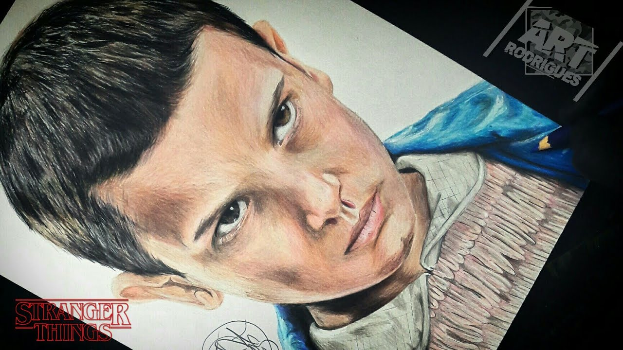 Desenhando A Eleven Stranger Things Drawing Eleven Stranger