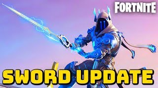 "Fortnite: NEW ""Infinity Blade"" Update Gameplay - (Fortnite Sword Gameplay Update)"