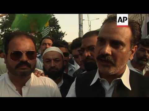 Pakistan Muslim League stage anti-India protest