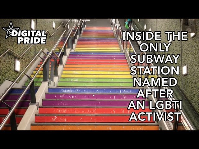 Inside the world's only subway station named after an LGBTI activist
