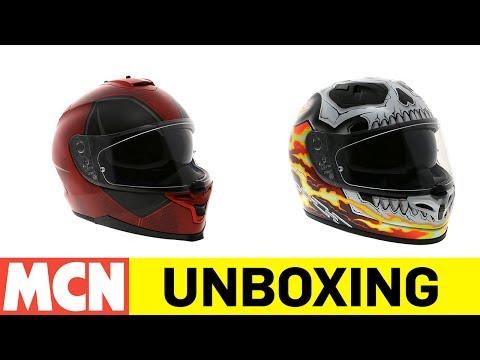 HJC Marvel helmets   Unboxing   Motorcyclenews.com