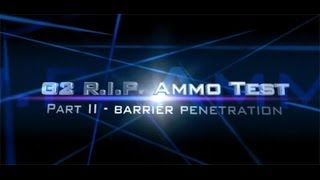 G2 RIP R.I.P. ammo review Part II: vs. Federal HST in ballistic gel, denim, and plywood